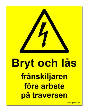 """SKYLT """"BRYT OCH LÅS.."""" TRAVERS"""
